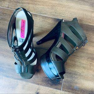 Alice + Olivia for Payless caged platform heels